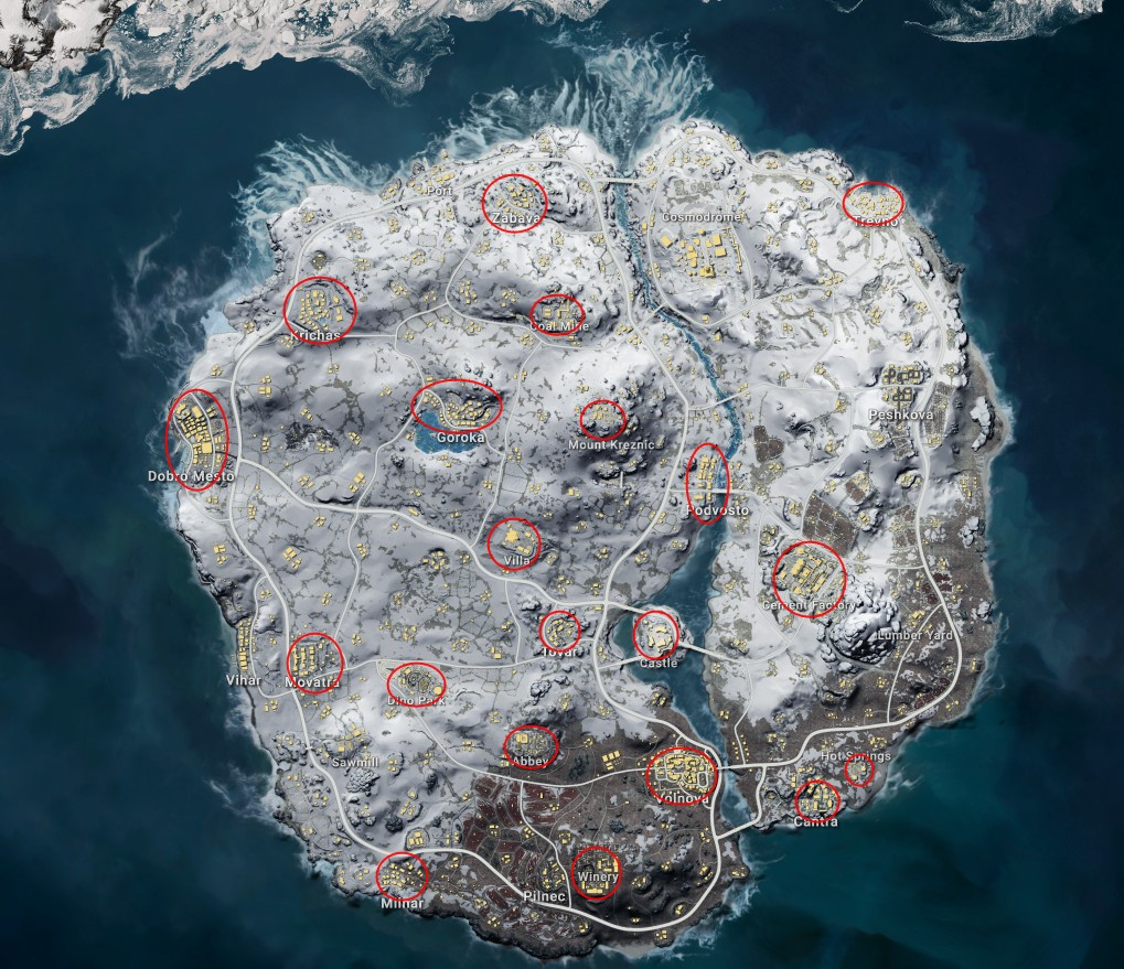 Зимняя карта pubg