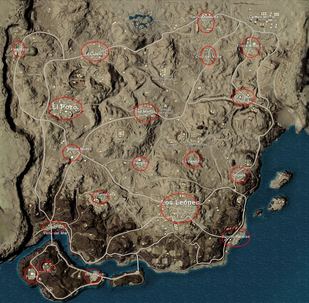Мирамар карта pubg