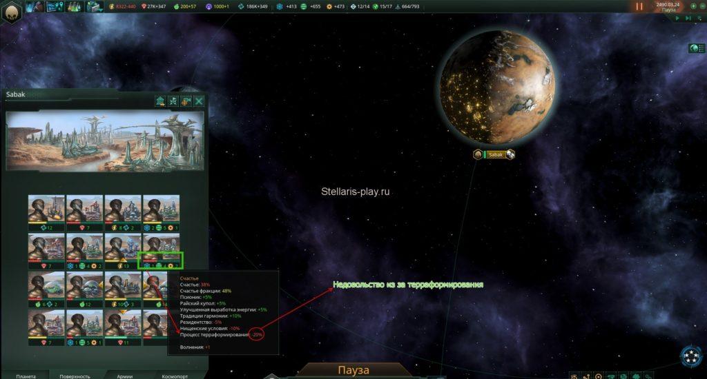 Как терраформировать планеты в игре stellatis