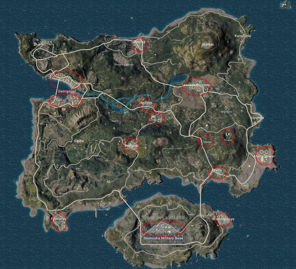 Эрангель карта pubg
