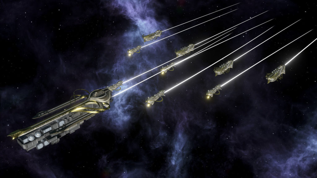 Флот караванщиков в Stellaris