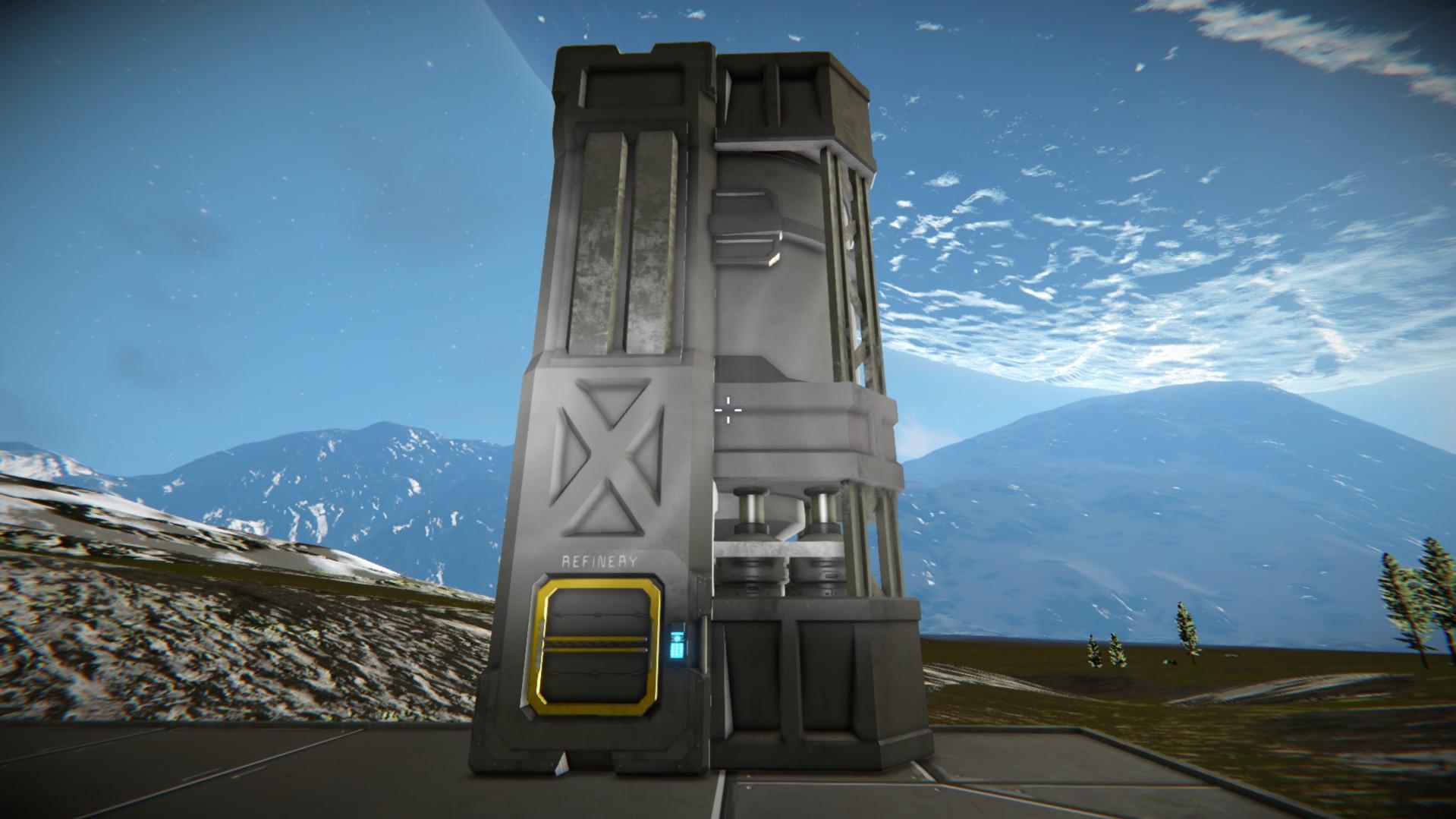 space engineers Очистительный завод