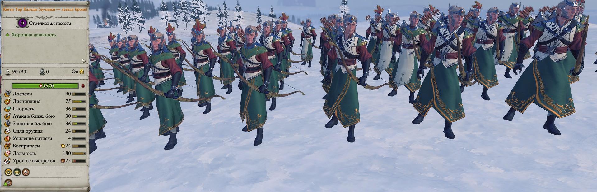 Когти Тор Каледы (лучники - легкая броня) warhammer total war 2