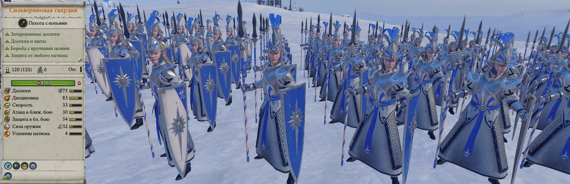 Сильвериновая гвардия отряды warhammer total war 2